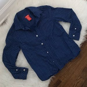 Kids dress shirt joe fresh blue button down 7/8